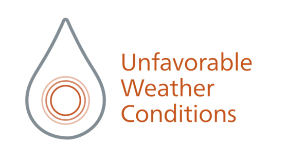 Unfavorable weather conditions